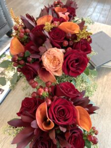 Regal, Rust and Red-Fall Tones bridal package